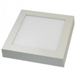 Downlight led superficie cuadrado 18W luz cálida
