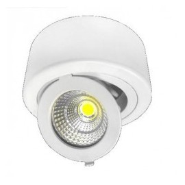 Downlight led superficie ajustable redondo 12W COB luz blanca