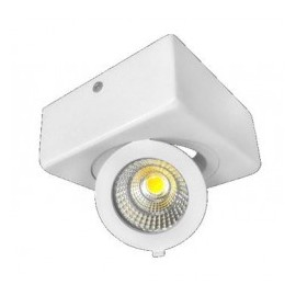Downlight led superficie ajustable cuadrado 12W COB luz blanca