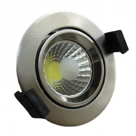 Downlight led empotrable redondo inox 8W COB luz neutra