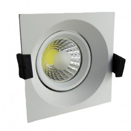 Downlight led empotrable cuadrado 8W COB luz neutra