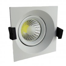 Downlight led empotrable cuadrado orientable 8W COB luz neutra