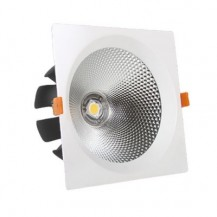 Downlight led empotrable cuadrado 20W COB luz blanca