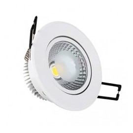 Downlight led empotrable orientable redondo 5W COB luz cálida