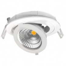 Downlight led empotrable orientable redondo 12W COB luz neutra