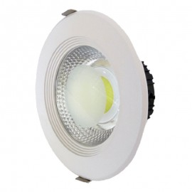 Downlight led empotrable redondo blanco 10W COB luz neutra