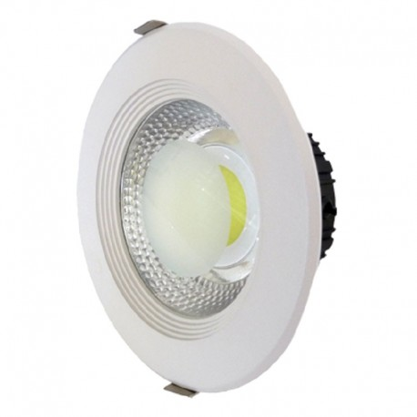 Downlight led empotrable redondo blanco 30W COB luz neutra