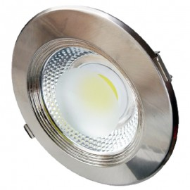 Downlight led empotrable redondo metálico 10W COB luz blanca