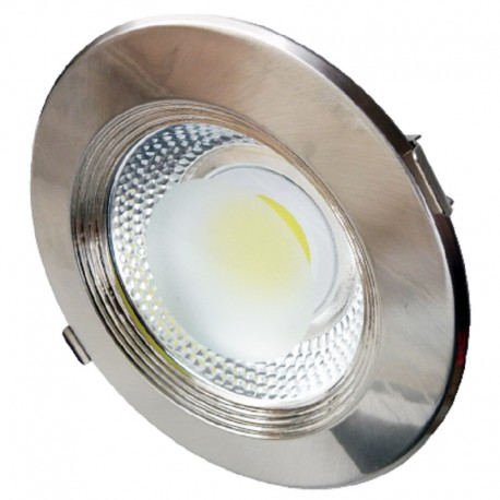 Downlight led empotrable redondo metálico 30W COB luz blanca