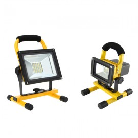 FOCO LED SMD PORTATIL CON BATERIA RECARGABLE 20W LUZ NEUTRA IP65